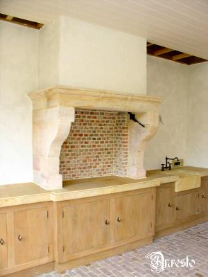 Antieke keukens buitenkeuken met open haard keuken ontwerpbureau antiek fornuis - Open haard keuken photo ...