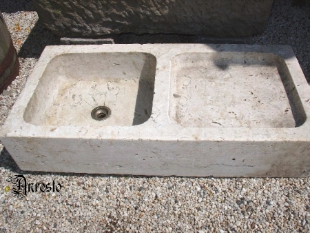 Anresto marmeren spoelbak antiek 19e eeuws - Oude keuken wastafel ...