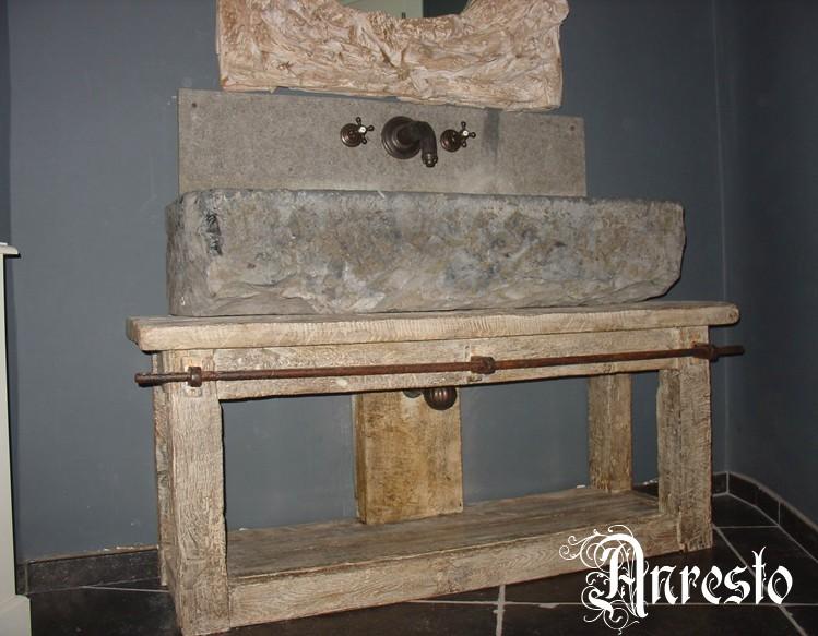 Anresto wastafel met dragend onderstel exclusieve antieke