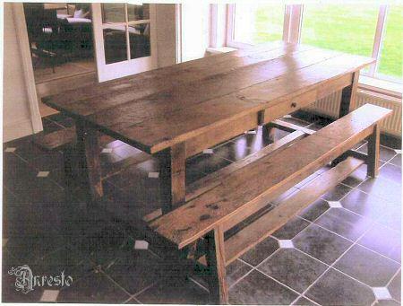 Landelijke tafel antieke hoevetafel
