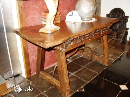 Antieke Spaanse Tafel : Antique trestle table from andalucia 17th century ±1680