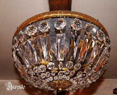 Kristallen Plafonniere : Antique lighting anresto crystal icicles ceiling lamp ca. 1910.