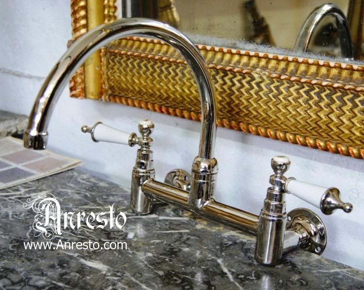 anresto, engelse keukenkraan antieke kraan. antiek sanitair, Badkamer