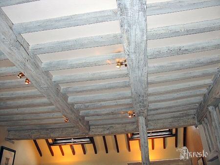 Oude houten balken