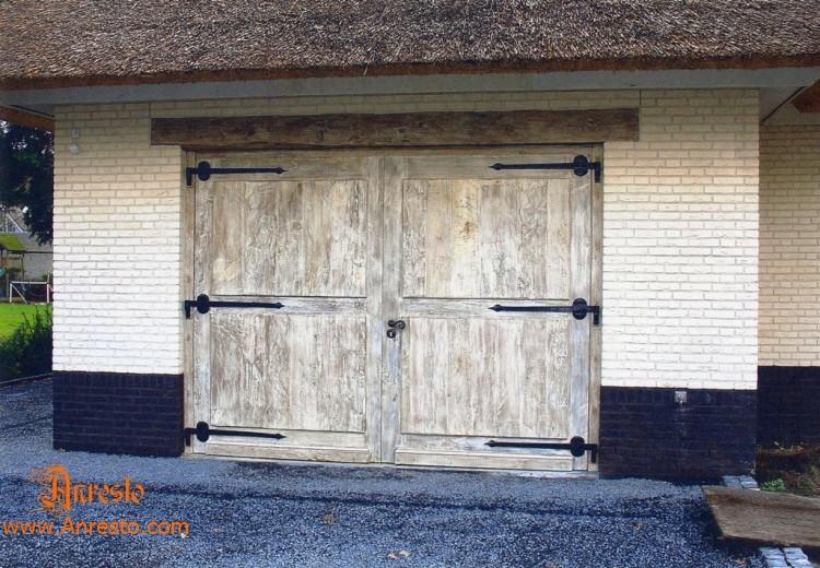 antieke exclusieve garagepoort in eik 18de eeuws op maat gemaakt antiek