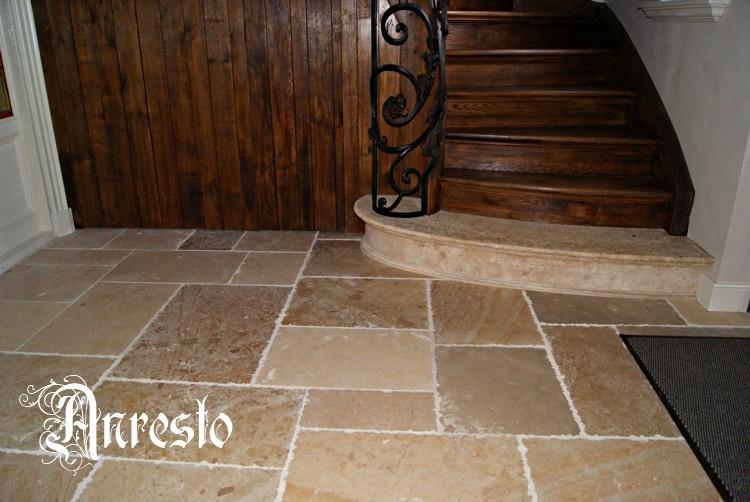 Historische vloeren bourgondische dallen anresto antieke bourgondische vloeren - Lino imitatie oude tegel ...