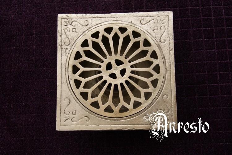 ANRESTO, Terras of vloer afvoerputje  Antieke afvoerputten # Crepine Wasbak_222355