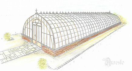 french antique greenhouse 19th century - Architectural antiques ANRESTO