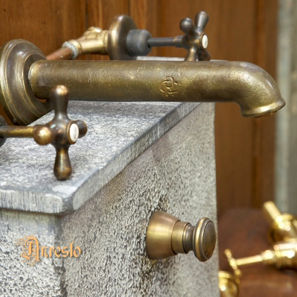 Anresto Antique Faucet Taps Wall Tap Assembly With