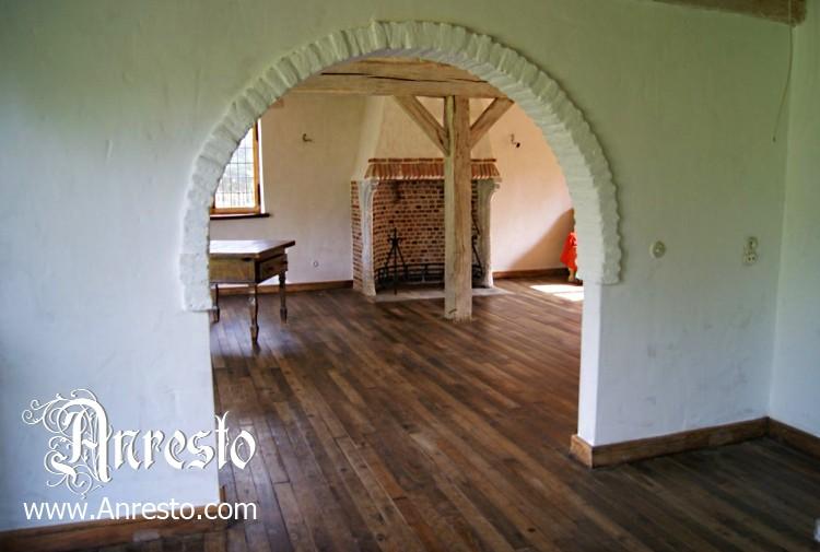 Eiken vloer 18de eeuws bouw antiek anresto ontwerpbureau for Landelijke woning te koop