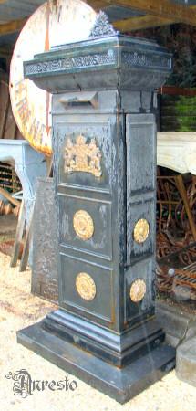Wonderbaarlijk Historische brievenbussen. ANRESTO, antieke brievenbus uit 1850 BO-14