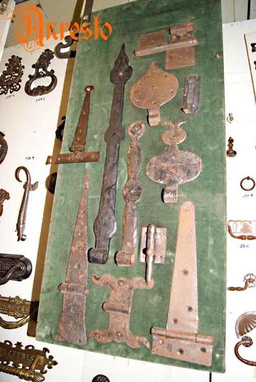 Beste Antiek ANRESTO, antiek deurbeslag Antieke smeedijzeren scharnieren YU-72