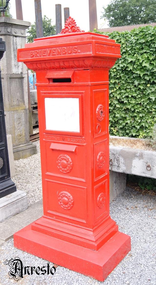 Verrassend Antiek ANRESTO, oude brievenbus gietijzer Hollandse brievenbus CE-58
